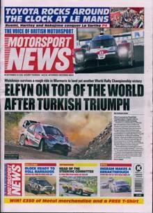 Motorsport News Magazine 24/09/2020 Order Online
