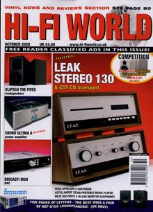 Hi Fi World & Comp Audio Magazine OCT 20 Order Online