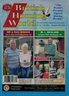 British Homing World Magazine NO 7544 Order Online
