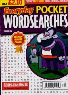 Everyday Pocket Wordsearch Magazine Issue NO 92