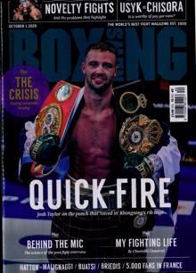 Boxing News Magazine 01/10/2020 Order Online
