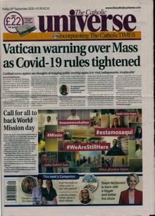 Catholic Universe Magazine 25/09/2020 Order Online