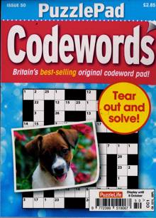 Puzzlelife Ppad Codewords Magazine NO 50 Order Online