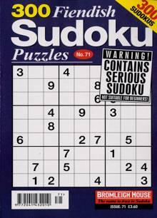 300 Fiendish Sudoku Puzzle Magazine NO 71 Order Online