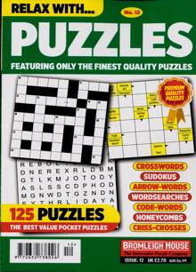 Relax With Puzzles Magazine NO 12 Order Online