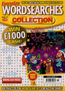 Everyday Wordsearches Coll Magazine Issue NO 111