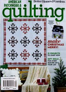 American Patchwork Quilting Magazine DEC 20 167 Order Online