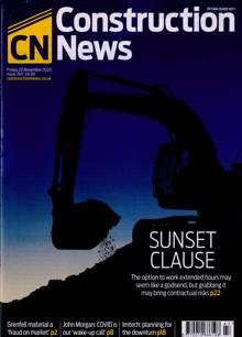 Construction News Magazine 20/11/2020 Order Online
