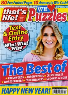 Thats Life We Love Puzzles Magazine N20 JAN21 Order Online