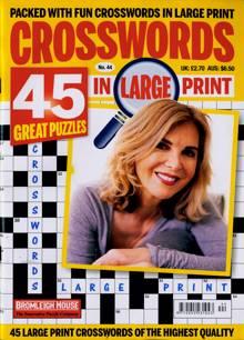 Crosswords In Large Print Magazine NO 44 Order Online