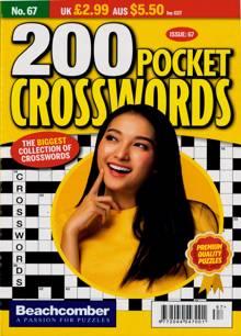 200 Pocket Crosswords Magazine NO 67 Order Online