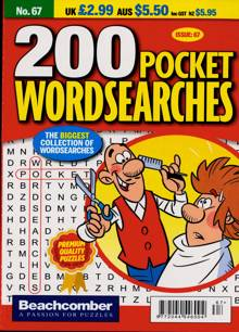 200 Pocket Wordsearches Magazine NO 67 Order Online