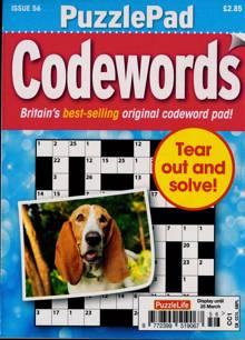 Puzzlelife Ppad Codewords Magazine NO 56 Order Online