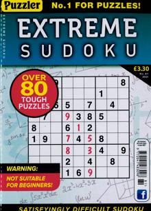 Extreme Sudoku Magazine Issue NO 81