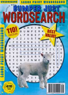 Bumper Just Wordsearch Magazine NO 235 Order Online