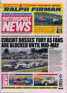 Motorsport News Magazine 15/04/2021 Order Online