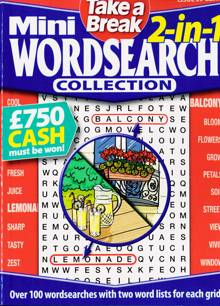 Tab Mini 2 In 1 Wordsearch Magazine Issue NO 39