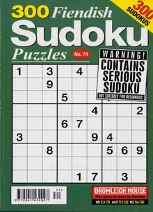300 Fiendish Sudoku Puzzle Magazine NO 74 Order Online