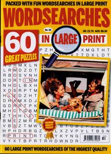 Wordsearches In Large Print Magazine Issue NO 50