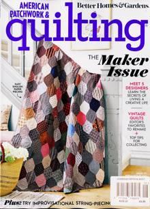 American Patchwork Quilting Magazine AUG 21 Order Online