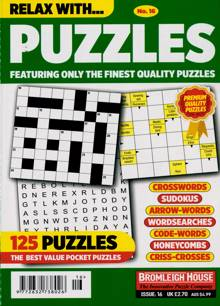Relax With Puzzles Magazine NO 16 Order Online