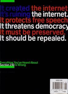 Wired Usa Magazine JUN 21 Order Online