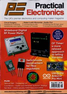 Practical Electronics Magazine AUG 21 Order Online