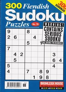 300 Fiendish Sudoku Puzzle Magazine NO 76 Order Online