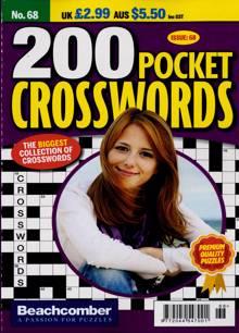 200 Pocket Crosswords Magazine NO 68 Order Online