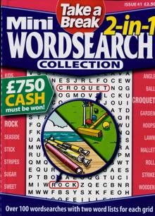 Tab Mini 2 In 1 Wordsearch Magazine Issue NO 41