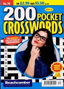 200 Pocket Crosswords Magazine NO 70 Order Online