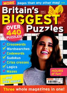 Britains Biggest Puzzles Magazine NO 4 Order Online