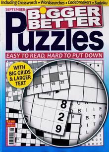 Bigger Better Puzzles Magazine NO 9 Order Online