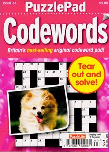 Puzzlelife Ppad Codewords Magazine NO 63 Order Online