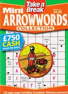 Tab Mini Arrowwords Coll  Magazine Issue NO 121