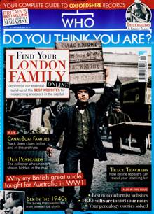 Who Do You Think You Are Magazine Issue OCT 21