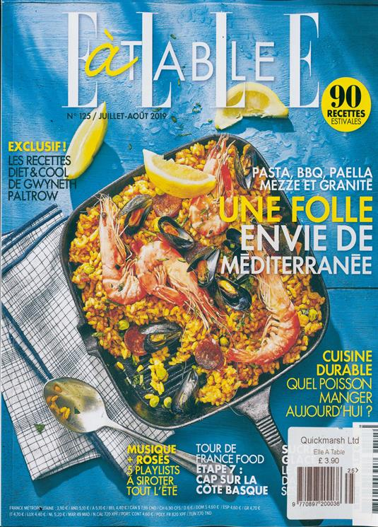 Elle A Table Magazine Subscription Buy At Newsstand Co Uk French