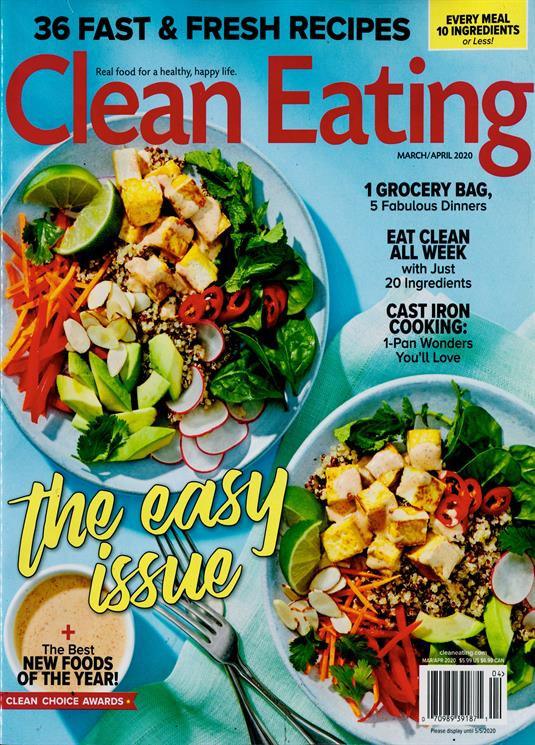 Clean Eating Magazine Subscription Buy At Newsstand Co Uk Cooking Food