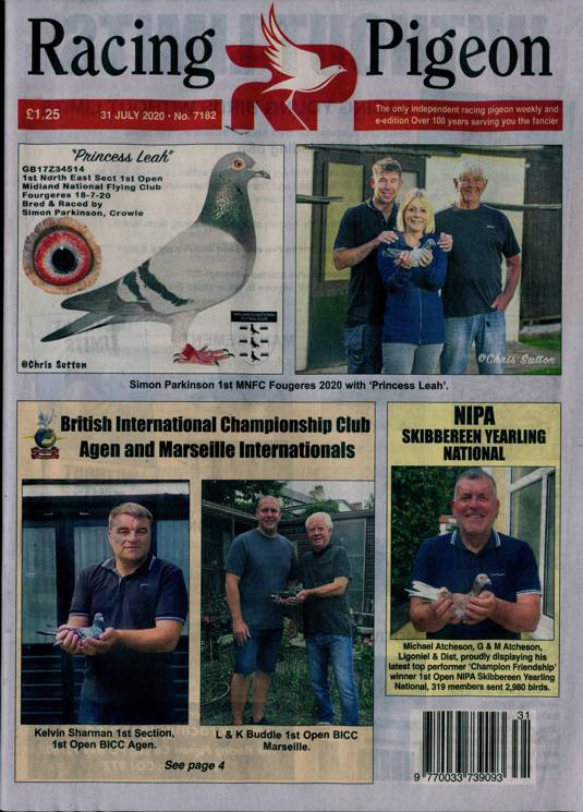 Racing Pigeon Magazine Subscription Buy At Newsstand Co Uk Birds